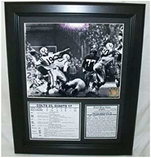 Greatest Game Ever Played Johnny Unitas Baltimore Colts 1958 Championship Game Photo 11x14 Framed & Matted 8X10 PHOTO