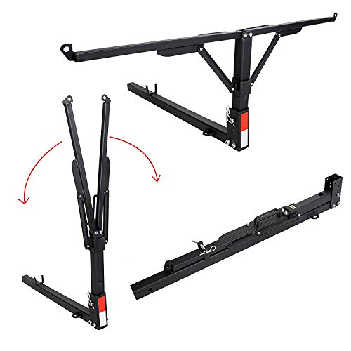 JMTAAT Foldable Pick Up Truck Bed Hitch Extender Extension Rack Canoe Boat Kayak Lumber w/Flag 400-Pound Capacity