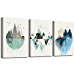 Abstract Mountain in Daytime Canvas Prints Wall Art Paintings Abstract Geometry Wall Artworks Pictures for Living Room Bedroom Decoration, 12x16 inch/piece, 3 Panels Home bathroom Wall decor posters (Renewed)