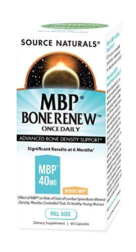 [海外直送品] Source Naturals MBP(乳塩基性タンパク質) ボーンレニュー 60粒