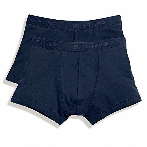 Fruit of the Loom Herren Boxershort 2 er Pack 170267 L,Underwear Navy
