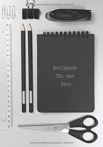 Notizbuch für das Büro: Notizheft oder Schreibheft für Notizen am Schreibtisch, das Meeting oder die nächste Besprechung in der Firma oder dem Betrieb Din A5 kariert 100 Seiten