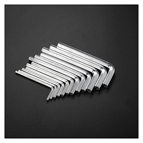 Xianggujie F 6pcs L Forma Llave la Llave de la Llave Hexagonal de la Llave de níquel fijó el Brazo Largo Hex Llave Clave (Size : A)