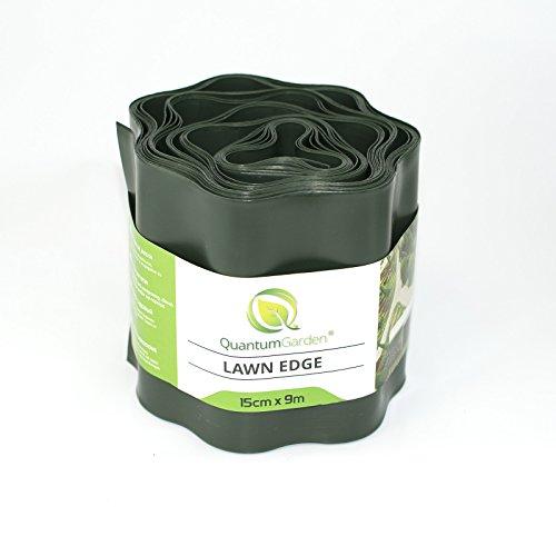 Flexible Garden Lawn Grass Edge 9m x 150mm Dark Green Edger Edging Border Wall