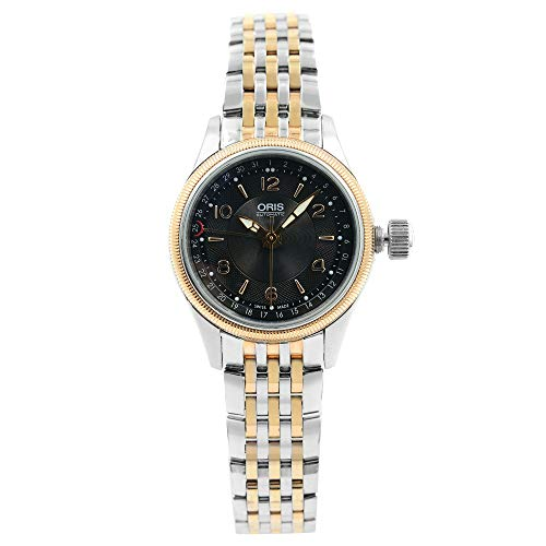 Oris Big Crown Date Pointer Automatic Black Dial Ladies Watch 594-7680-4334