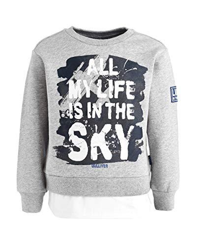GULLIVER Kinderen Trui Jongens Sweater Grijs met Print 3 7 Jaar 98 104 110 116 122 cm