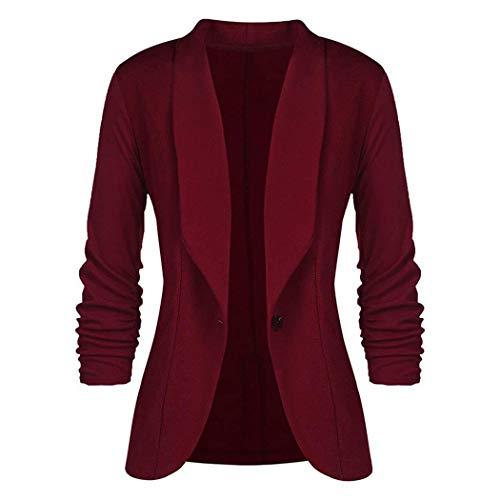 Meaneor Damen Blazer Cardigan 3/4 Ärmel Elegant Bolero Business Jacke Blazer Slim Fit Anzug