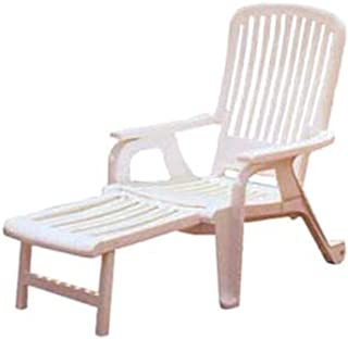 Grosfillex US658004 Bahia Stacking Deck Armchair, White (Case of 2)