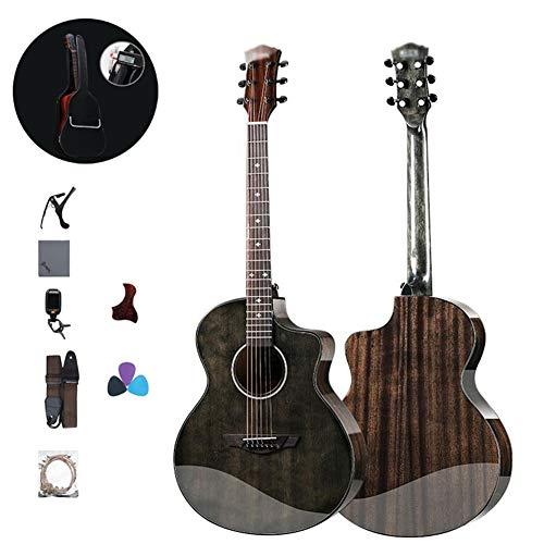 Guitarra Acústica Guitarra Clasica Kits para Principiantes con Funda De Guitarra,Correa Sintonizador,Recoger,Guitarra Portátil Herramienta De Práctica De Acordes Abeto Lustroso Gdming
