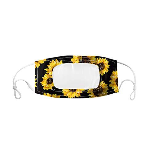 1 PC Accessory Schutz, Wiederverwendbare Outdoor Unisex, Baumwolle Soft Mundschutz-Multifunktionstuch waschbar und wiederverwendbar, für Radfahren, Camping,Transparente Masken speziell für Gehörlose