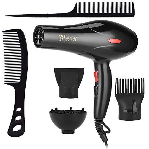 Peigne à air chaud 2200W Negative Ion Hair Dryer Household Hair Dryers Fan Diffuser Nozzles Comb Salon Mini Travel Portable Blow Drying Machine