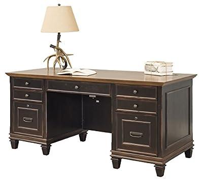 Martin Furniture Hartford Double Pedestal Shaped Desk