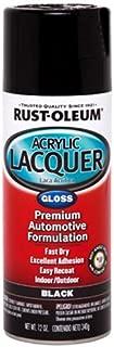 Rust-Oleum Automotive 253365 12-Ounce Acrylic Lacquer Spray, Black Gloss