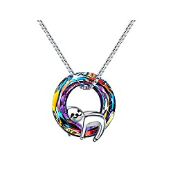 Crystal Sterling Silver Sloth Necklace for Women