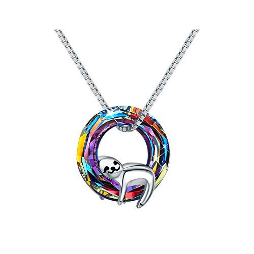 Crystal Sloth Necklace