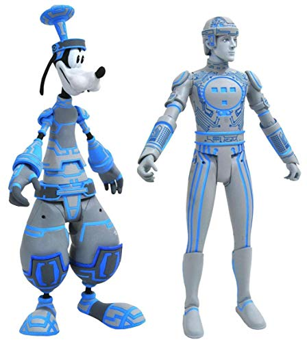 DIAMOND SELECT TOYS Kingdom Hearts Select: Space Paranoids Goofy & Tron Action Figure Two-Pack