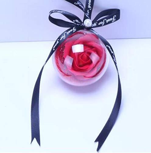 Colgante Coche Colgante Rosa Eterna bola de las flores Retrovisor Espejo Decoración colgante del ornamento Jabón Flor de suspensión automática Accessoriess-púrpura Colgante de espejo retrovisor