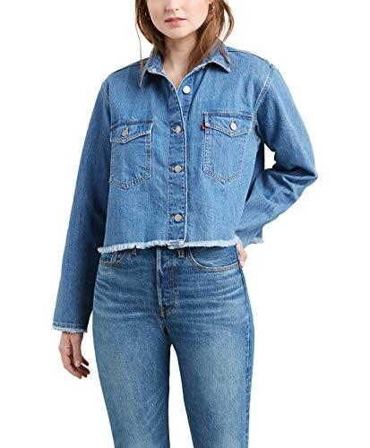 Levi's Shirt Rania Cropped Blauw Vrouw M Blauw