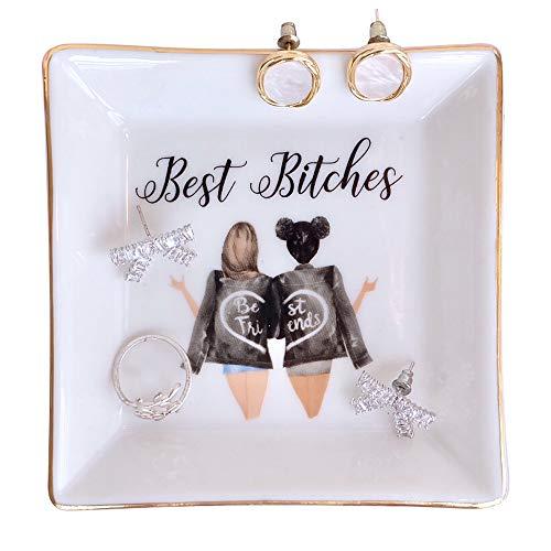 Birthday Gifts for Women Best Friend Ring Trinket Dish  Best Bitches  Friendship gifts Best Friend Gifts for Women