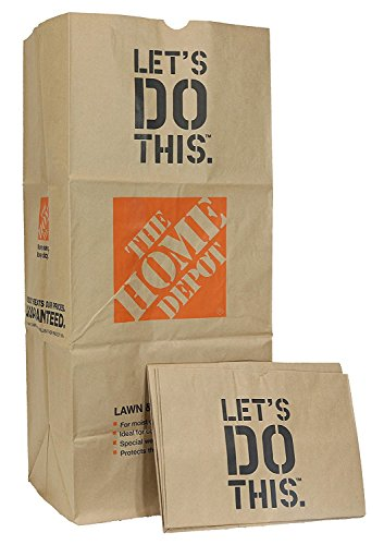 Home Depot Heavy Duty Brown Paper 30 Gallon Lawn and Refuse Bags for Home and Garden (5 Lawn Bags)
