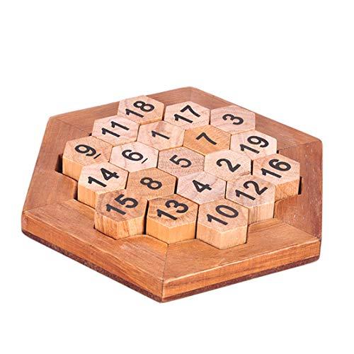 MTGYF Luban Schloss Serie Spielzeug Digitale Waben Erwachsenen Puzzle Lernspielzeug Digitale Platte horizontal und vertikal schräg Plus 38