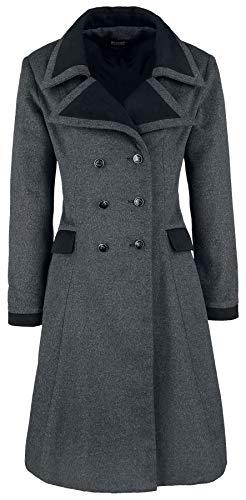 Banned Alternative Retro Coat Abrigo de Lana Gris 3XL