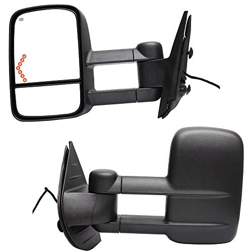 Review HSY 1 Pair With Heated and Turn Signal Lamp Electric Towing Mirrors, For 2007-2014 GMC Sierra...