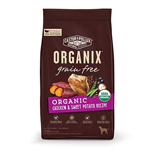 Castor & Pollux Organix Grain Free Organic Chicken & Sweet Potato Recipe Grain Free Dry Dog Food - 10 lb Bag