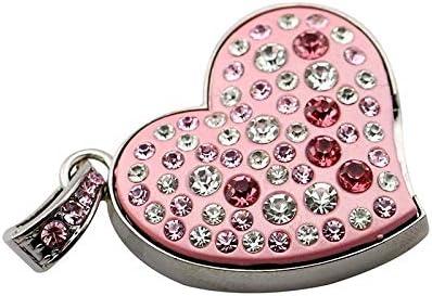 Civetman 4GB Pendrive Crystal Diamond Gold Guitar USB Flash Drive with Necklace