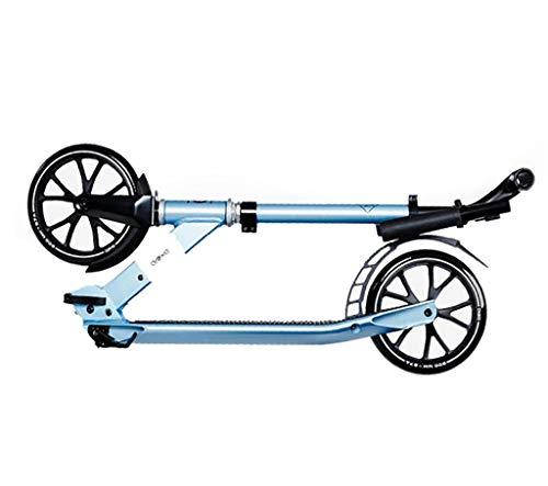 Commuter Scooter, Blue Scooter, volwassen opvouwbare tweewielige scooter, 20CM groot wiel, voetrem, hoogte verstelbaar (niet-elektrisch)