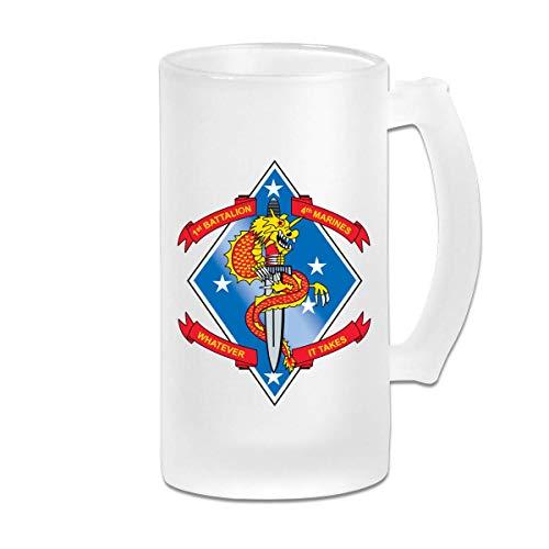 1er Batallón 4to Marines Desgaste - Jarra de cerveza resistente con anti - vasos de cerveza Vasos de cerveza