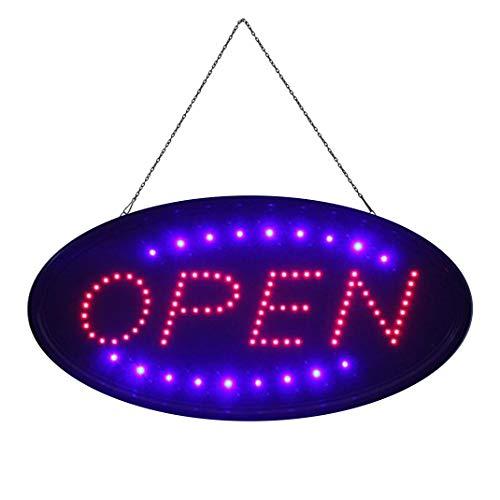 OPEN Elektronisches LED-Schild - das originale intelligente leuchtende LED-Schild für professionelle, leistungsstarke, animierte, blinkende Anzeigeschilder OP01