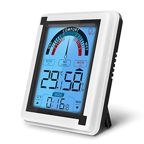 yidenguk Digital Hygrometer Thermometer Innen Thermo-Hygrometer mit Hintergrundbeleuchtung, für Raumklimakontrolle Raumluftüerwachtung Klima Monitor