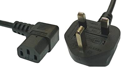 3M Right Angled Angle Kettle Type IEC Mains Power Cable Lead
