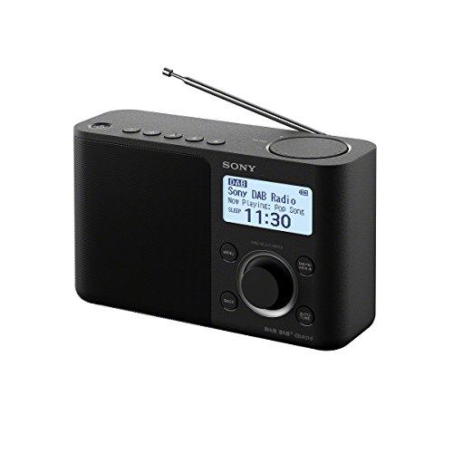 Sony XDR-S61D Portable Digital Radio with High Quality Sound - Black
