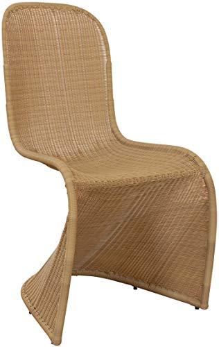 Schwingstuhl Freischwinger-Stuhl aus PE-Rattan