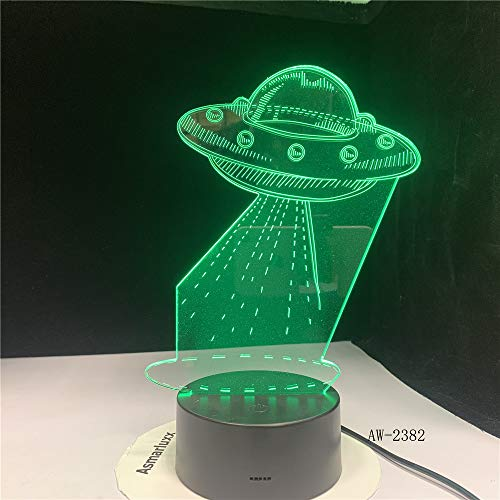 ZCHPDD Extraterrestre Acrílico 3D Luz Nocturna USB