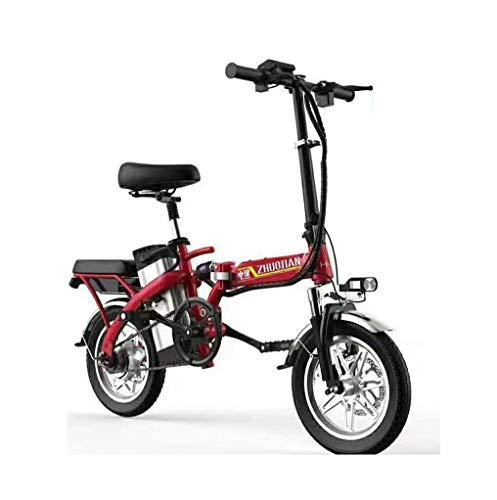 Bicicleta eléctrica Bicicleta Plegable Mini batería de Litio Scooter 45v350w Aleación de Aluminio de 14 Pulgadas Pantalla eléctrica Interruptor Mango Destacado Foco Sillín Plegable Soporte