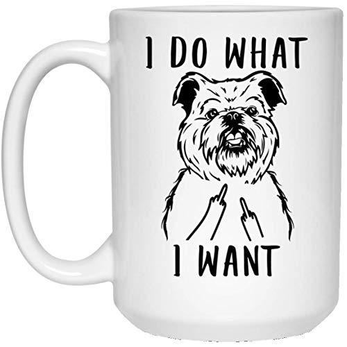 N\A Divertido Perro grifón de Bruselas, Hago lo Que Quiero, Taza de café con el Dedo Medio