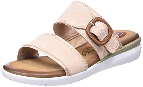 Jana 100% comfort Damen 8-8-27107-24 Pantoletten, Pink (Rose Comb 502), 42 EU
