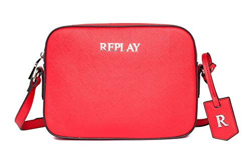 REPLAY Fw3075, Bandolera para Mujer, 260 Blood Red, UNIC