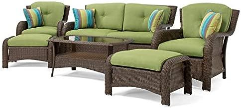La-Z-Boy Outdoor ASAW-6PC SAW-6PC Patio Seating Set, Green