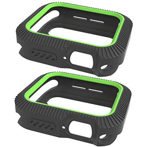 Hemobllo 2 Pezzi Compatibili per Apple Watch 4 Custodia Smart Bumper 40Mm Custodia Protettiva Compatibile con Iwatch 4 (Nero Verde)