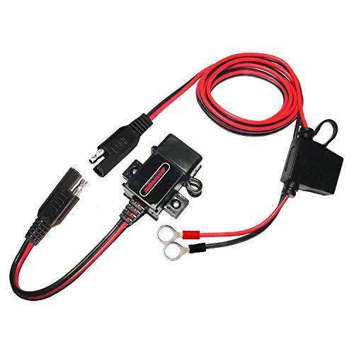 MOTOPOWER MP0609A 3.1Amp Motorrad USB Ladegerät Kit SAE zu USB Adapter Kabel