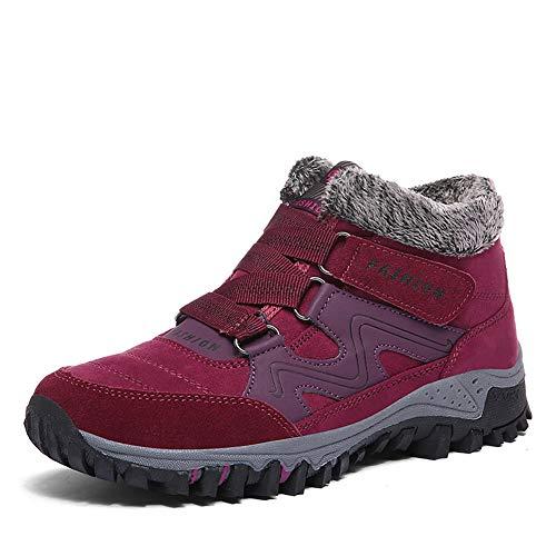 Botas de Nieve Mujer Senderismo Invierno Calentar Forrada Zapatos Impermeables Deportes Trekking Zapatos Sneakers