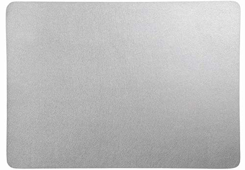 ASA selection Set de Table Dessous de Verre Aspect Cuir, Silber, Tischset eckig ca. 33x46cm