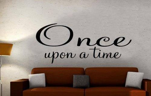 Windsor Designers Wandtattoo–Once Upon A Time. Wanddekoration Wandbild Schlafzimmer Lounge Küche, Pink, L (120 x 40 cm)