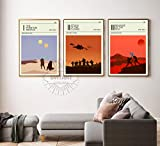 Minimalist Star wars Episode I, II, III Poster set, Star wars prints, star wars home decor, All Prints avialable in 20 SIZES and 3 type of MATERIALS