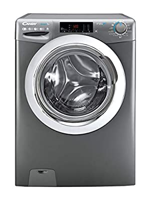 Candy Smart Pro CSOW2853TWCGE Free Standing Washing Machine, WiFi Connected, 8 kg/5 kg Load, 1200 rpm, Graphite