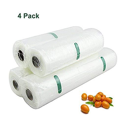 MIMINUO Sacs Sous vide gaufrés/ 4 rouleaux pour toutes les barres Vacuum partie appropriée/cuisson - micro-ondes - soudure SousVide convenable (2 Large+2 Small)
